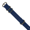 PU Leather Zulu Strap in Blue with Silver Buckle (24mm)