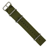 Premium Nato Strap in Olive with Polished Silver Buckle (22mm)
