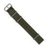 Premium Nato Strap in Grey with Polished Silver Buckle (20mm) - Nomad watch Works