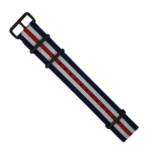 Premium Nato Strap in Regimental with PVD Black Buckle (18mm) - Nomad watch Works