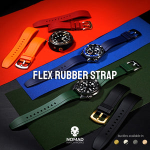 Flex Rubber Strap in Clear (20mm) - Nomad watch Works