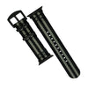 Apple Watch Seat Belt Nato Strap in Black Grey (James Bond) with Black Buckle (38 & 40mm) - Nomad watch Works