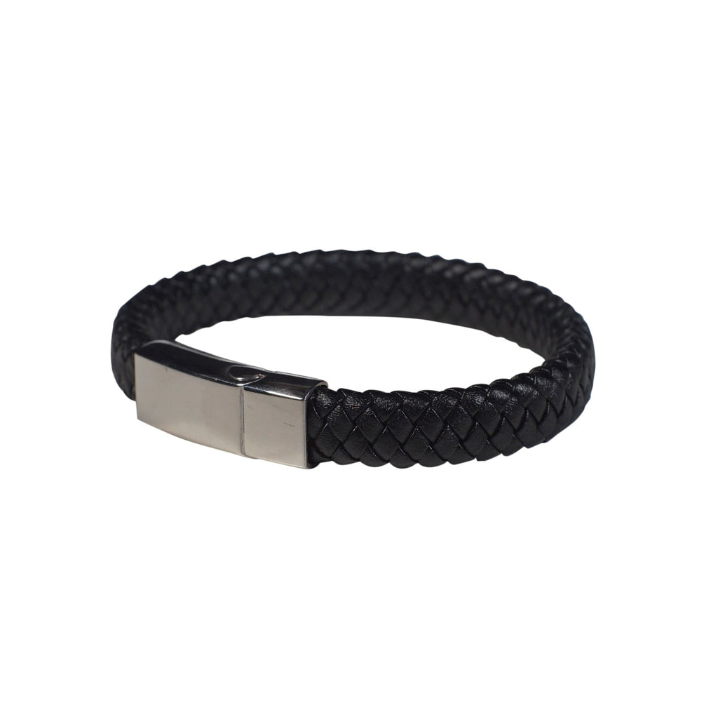 Chester Leather Bracelet in Black - Nomad watch Works