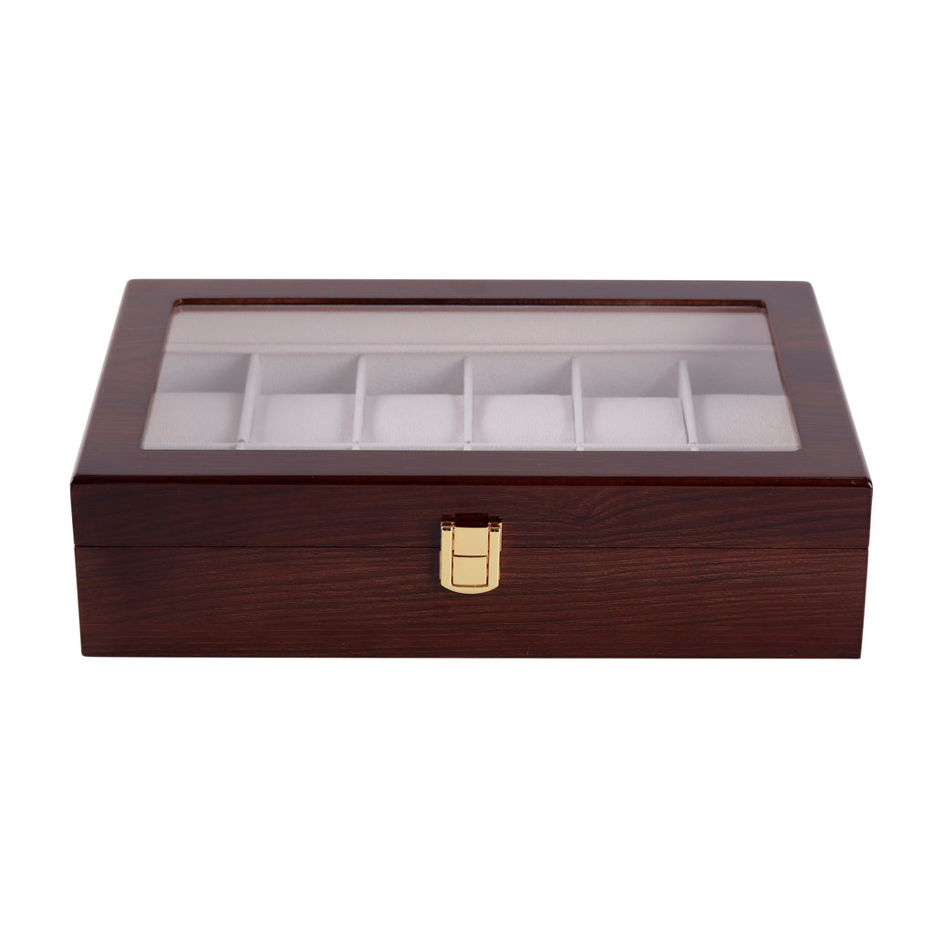 Wooden Watch Box in Brown (12 Watch Slots) - Nomad watch Works