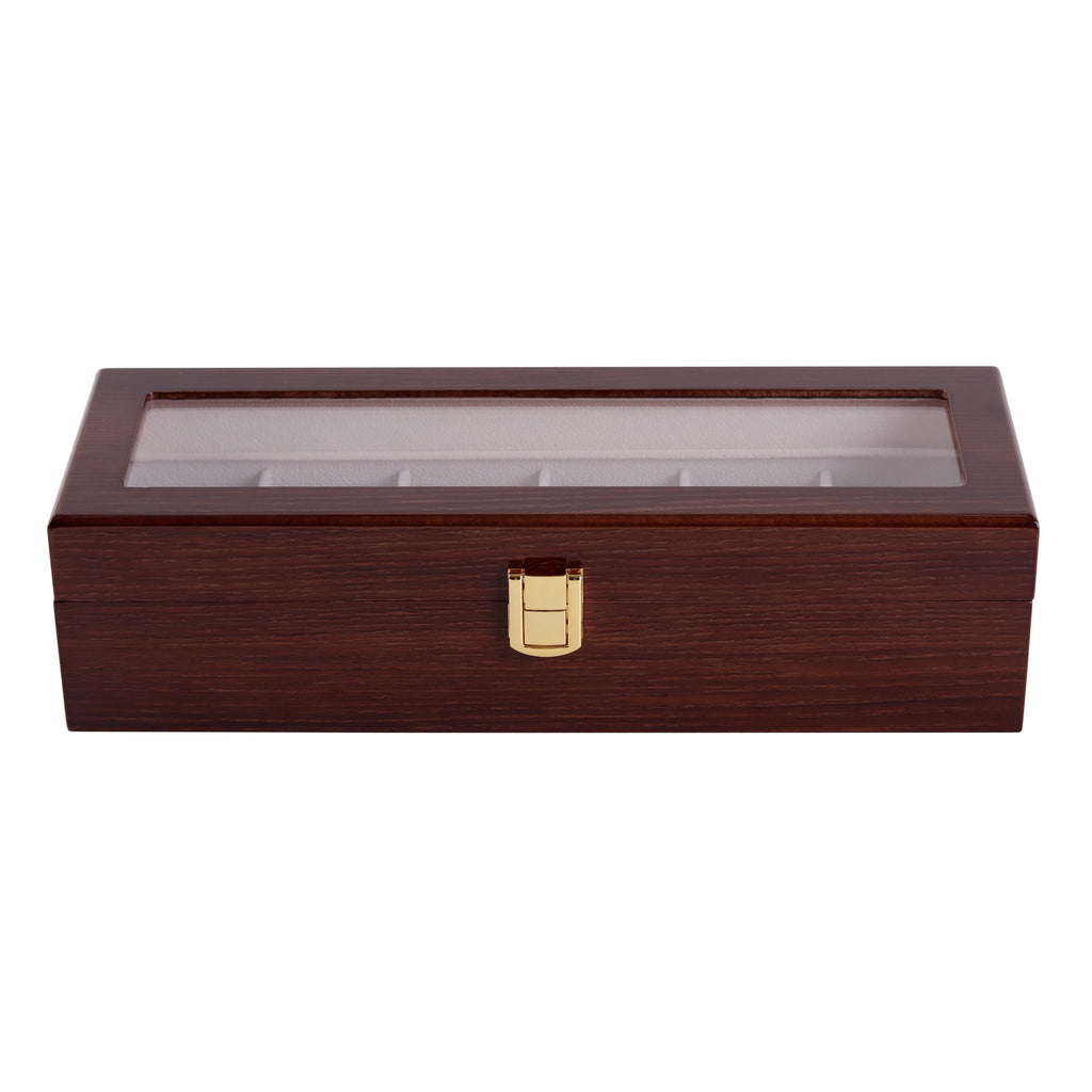 Wooden Watch Box in Brown (6 Watch Slots) - Nomad watch Works