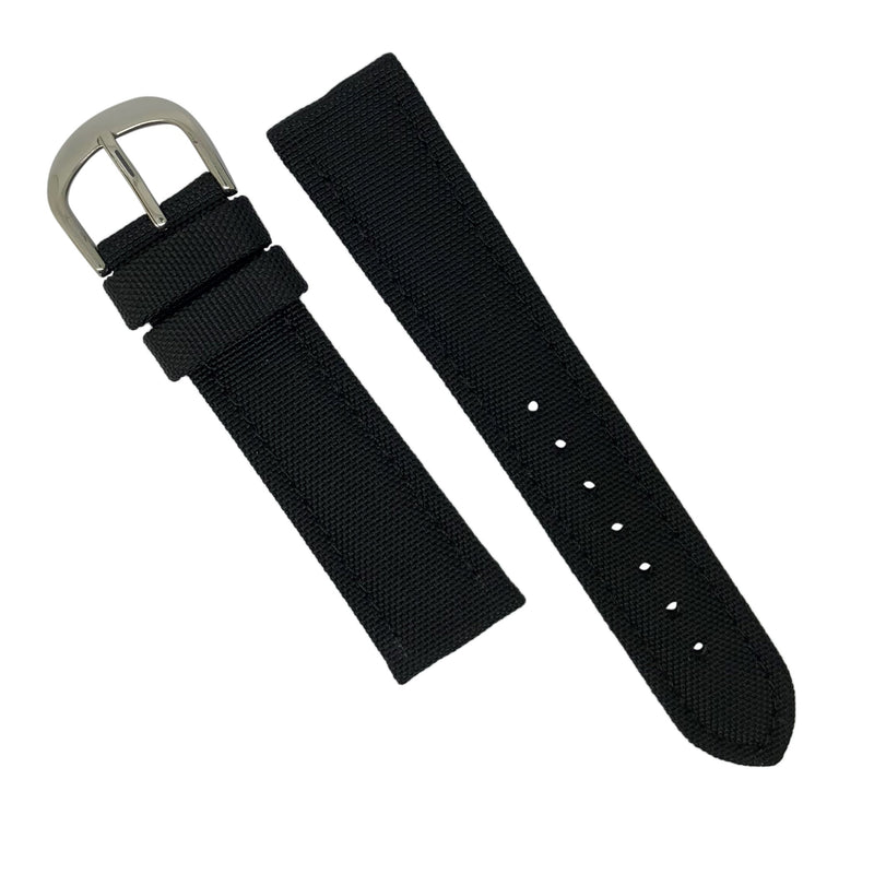 Canvas Watch Strap in Black (18mm) - Nomad watch Works