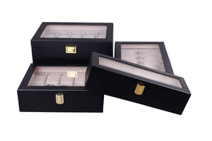 Wooden Watch Box in Black (20 Watch Slots) - Nomad watch Works