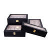 Wooden Watch Box in Black (10 Watch Slots) - Nomad watch Works