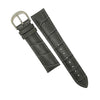 Genuine Croc Pattern Stitched Leather Watch Strap in Grey (16mm) - Nomad watch Works
