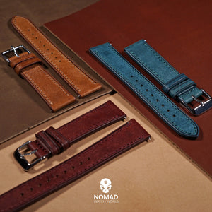 Emery Signature Pueblo Leather Strap in Cognac (20mm) - Nomad watch Works