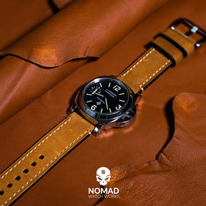 M1 Vintage Leather Watch Strap in Tan (22mm) - Nomad watch Works