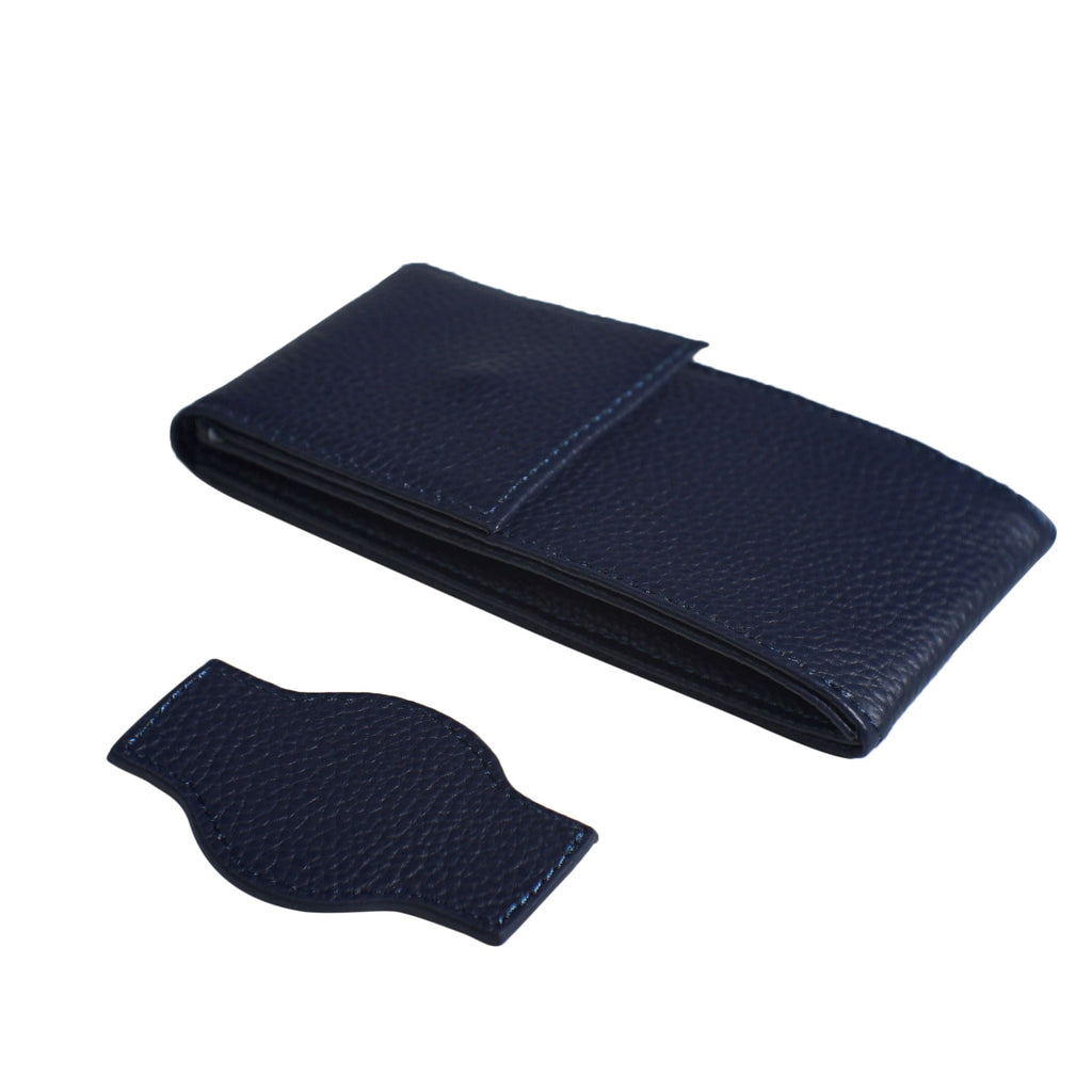 Travel Watch Pouch in Navy - Nomad watch Works