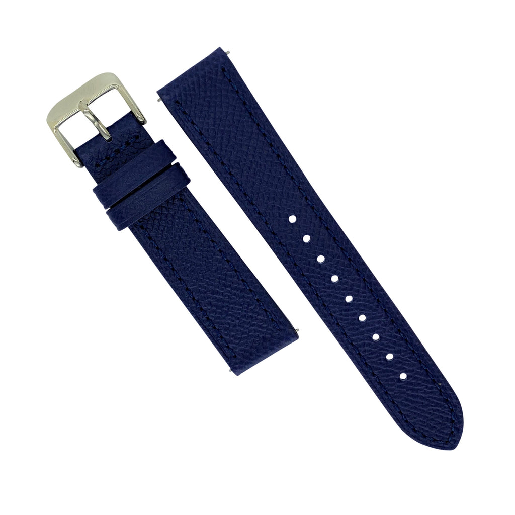 Emery Dress Epsom Leather Strap in Navy (20mm) - Nomad watch Works