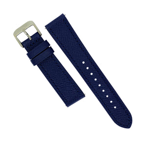 Emery Dress Epsom Leather Strap in Navy (19mm) - Nomad watch Works