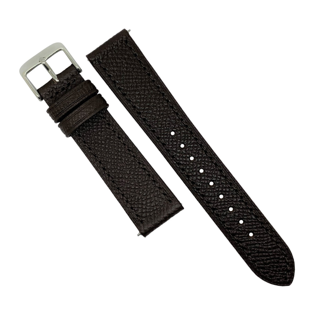Emery Dress Epsom Leather Strap in Brown (20mm) - Nomad watch Works