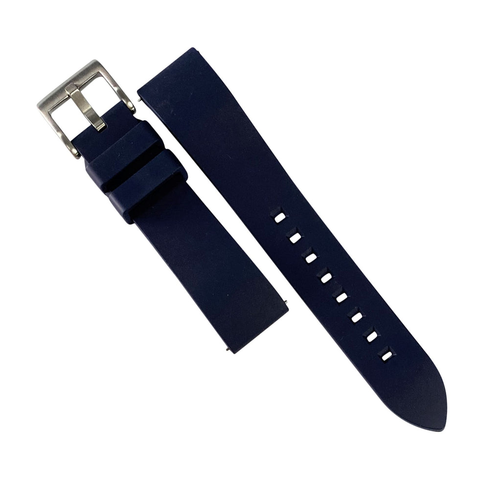 FKM Rubber Strap in Navy (20mm) - Nomad watch Works