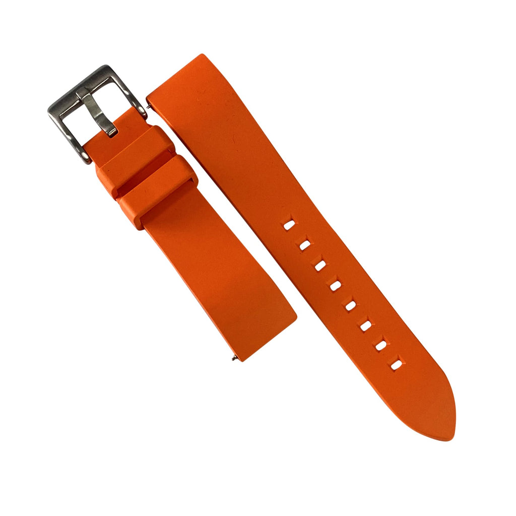 FKM Rubber Strap in Orange (22mm) - Nomad watch Works