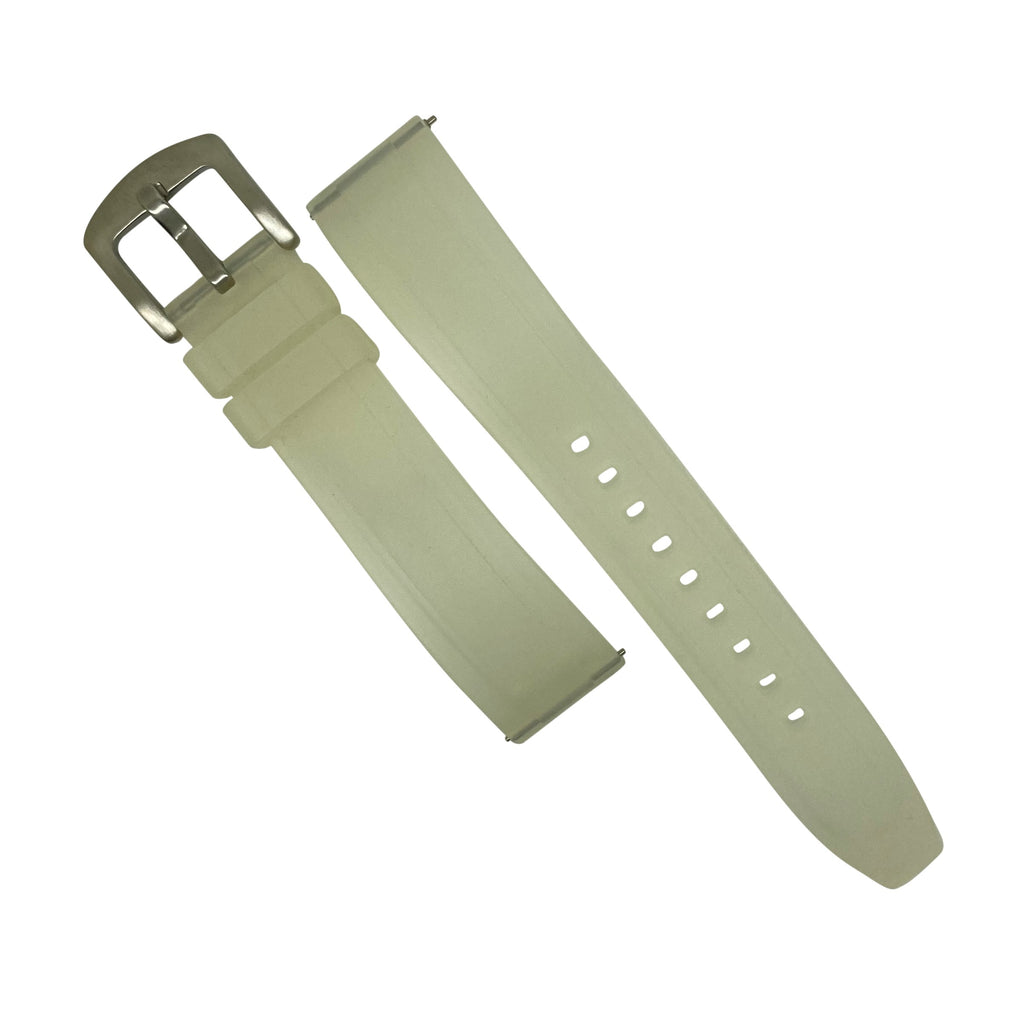 Flex Rubber Strap in Clear (22mm) - Nomad watch Works