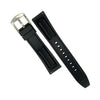 Flex Rubber Strap in Black (20mm) - Nomad watch Works