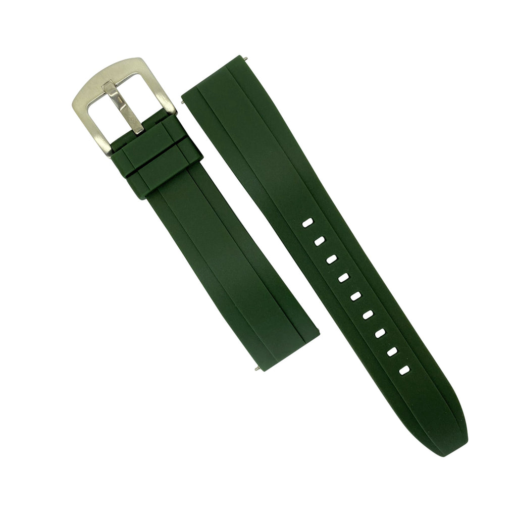 Flex Rubber Strap in Green (20mm) - Nomad watch Works