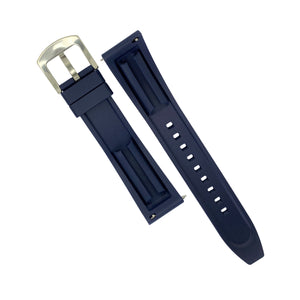 Flex Rubber Strap in Navy (22mm) - Nomad watch Works