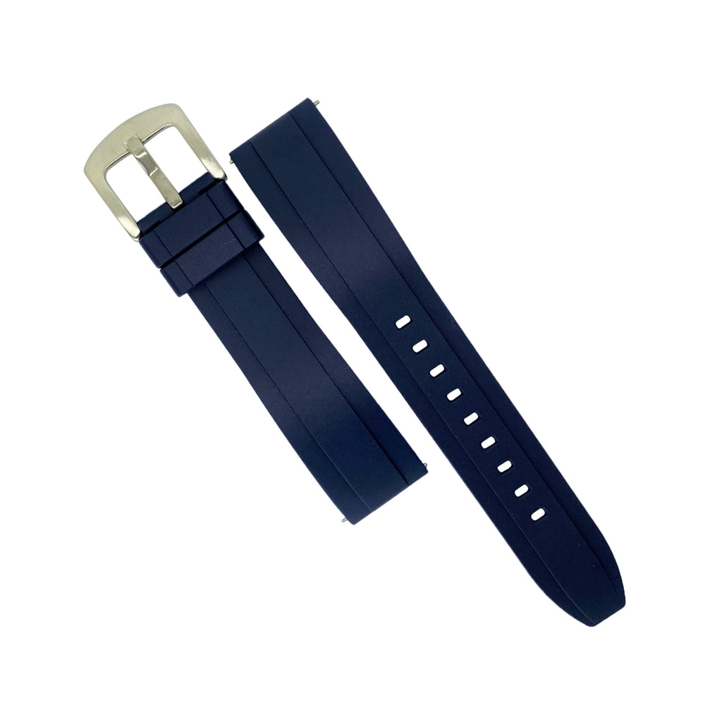 Flex Rubber Strap in Navy (20mm) - Nomad watch Works