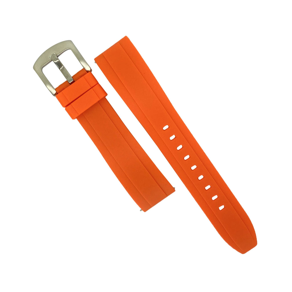 Flex Rubber Strap in Orange (22mm) - Nomad watch Works