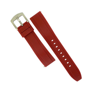 Flex Rubber Strap in Red (22mm) - Nomad watch Works