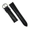 Genuine Croc Pattern Stitched Leather Watch Strap in Black (16mm) - Nomad watch Works