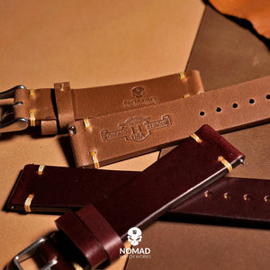 N2W Vintage Horween Leather Strap in Chromexcel® Brown (19mm) - Nomad watch Works
