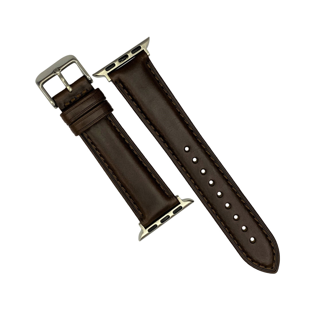 N2W Classic Horween Leather Strap in Chromexcel® Brown (38 & 40mm) - Nomad watch Works