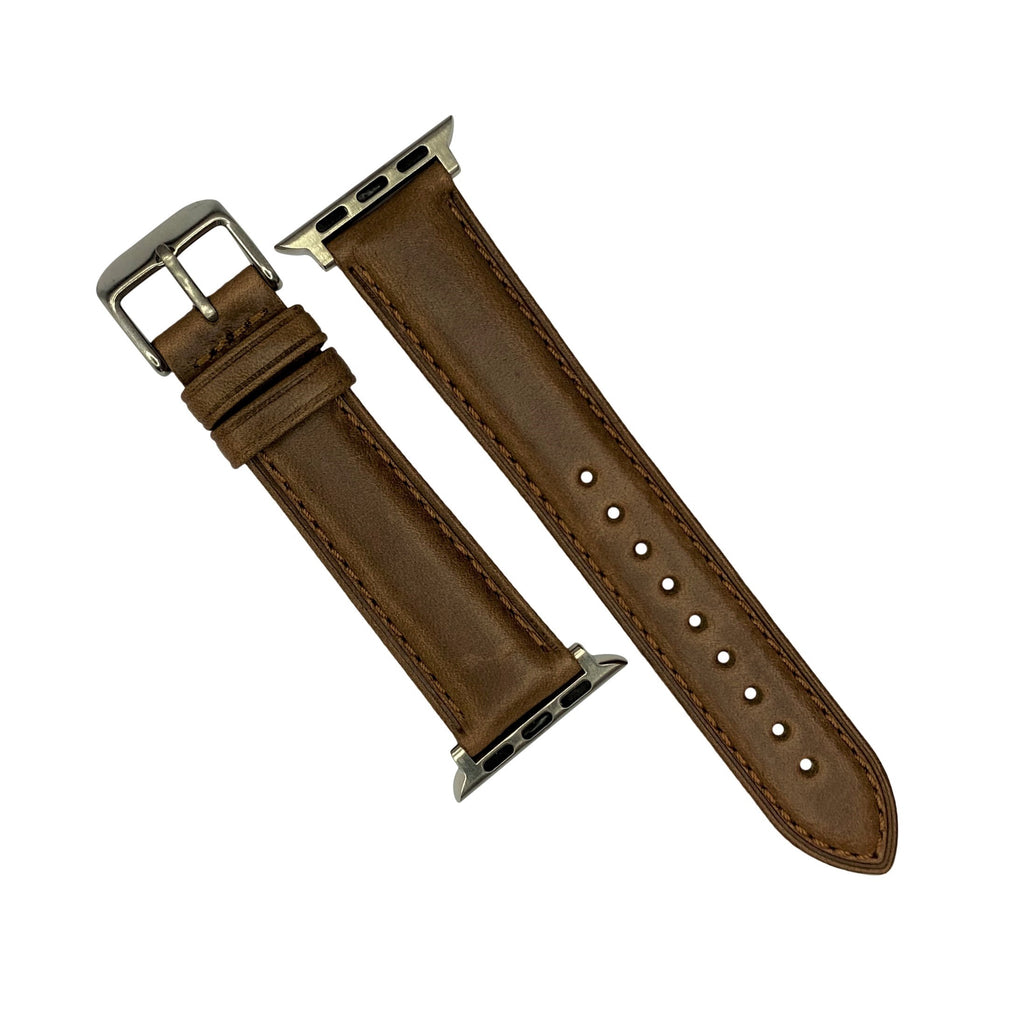 N2W Classic Horween Leather Strap in Chromexcel® Tan (42 & 44mm) - Nomad watch Works