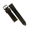 N2W Vintage Horween Leather Strap in Chromexcel® Olive (18mm) - Nomad watch Works