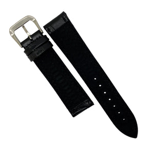 Performax Croc Pattern Leather Hybrid Strap in Navy (20mm) - Nomad watch Works