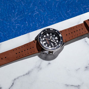 Premium Rally Suede Leather Watch Strap in Brown (22mm) - Nomad watch Works