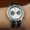 Lux Single Pass Strap in Black Sand with Silver Buckle (22mm) - Nomad Watch Works SG
