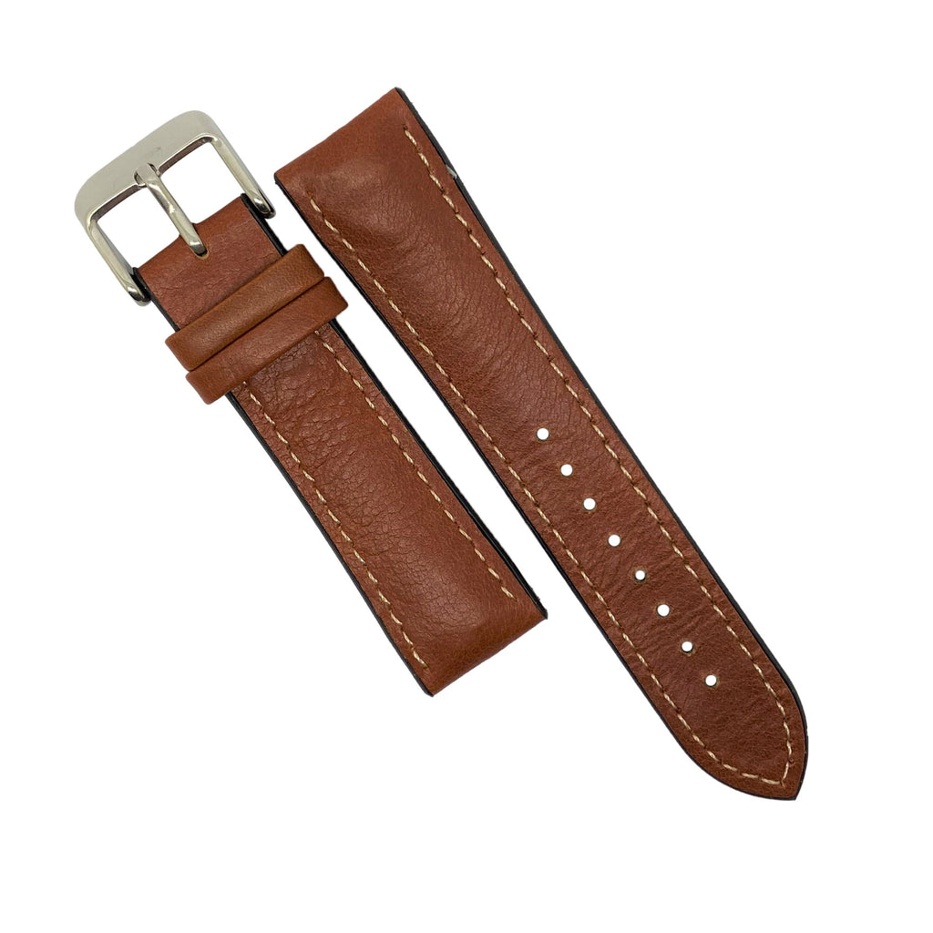 Performax Matt Leather Hybrid Strap in Amber (20mm) - Nomad watch Works