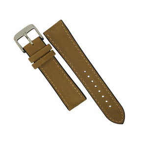 Performax Matt Leather Hybrid Strap in Tan (20mm) - Nomad watch Works