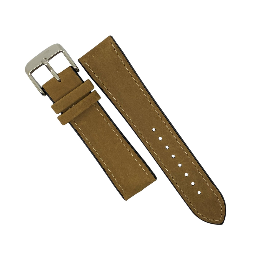 Performax Matt Leather Hybrid Strap in Tan (22mm) - Nomad watch Works