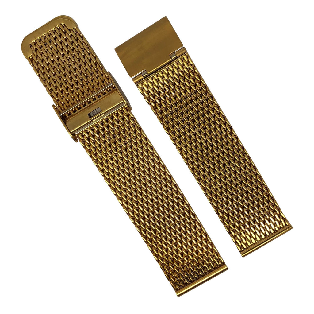 Milanese Mesh Watch Strap in Yellow Gold (18mm)