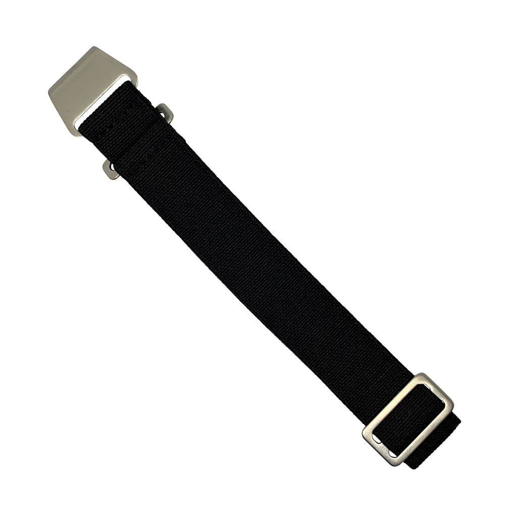 NDC Military Strap in Black with Silver Buckle (20mm)