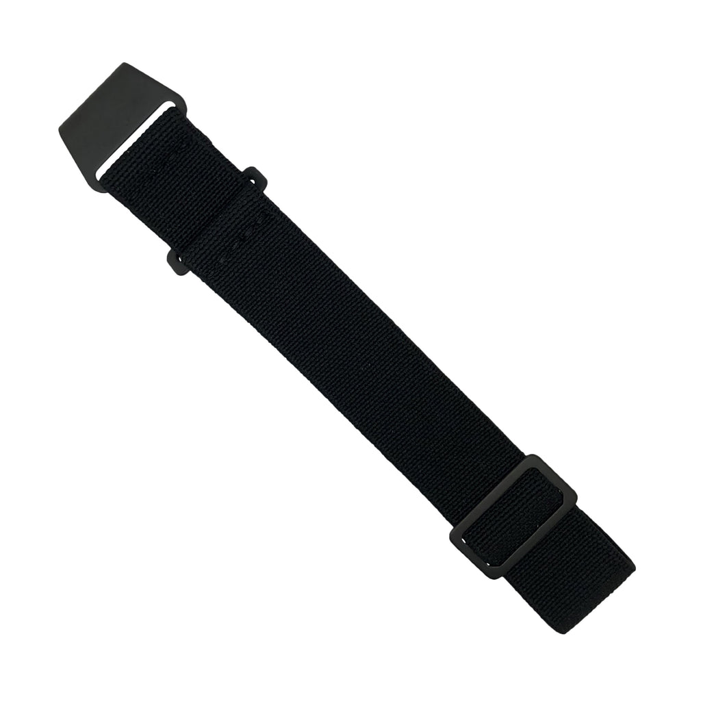 NDC Military Strap in Black with Black Buckle (22mm)