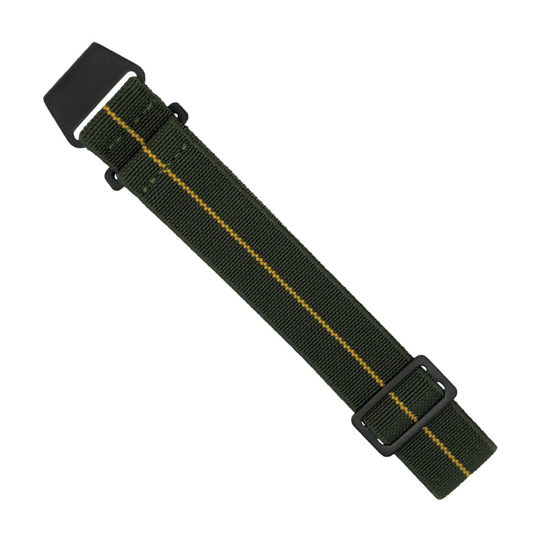 Marine Nationale Strap in Olive Yellow with Black Buckle (20mm) - Nomad watch Works