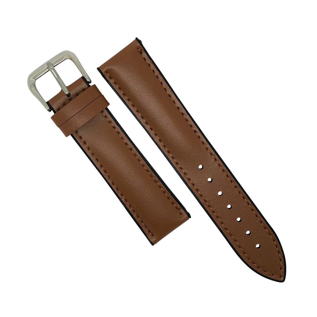 Performax Classic Leather Hybrid Strap in Tan (22mm) - Nomad watch Works
