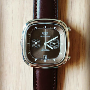 Performax Classic Leather Hybrid Strap in Brown (18mm) - Nomad watch Works
