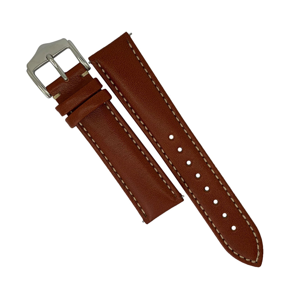 Quick Release Classic Leather Watch Strap in Tan (18mm) - Nomad watch Works