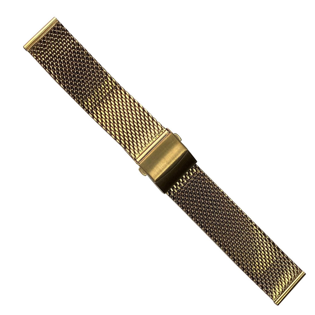Premium Milanese Mesh Watch Strap in Rose Gold (22mm) - Nomad watch Works