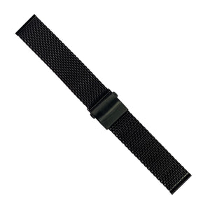 Premium Milanese Mesh Watch Strap in Black (20mm) - Nomad watch Works