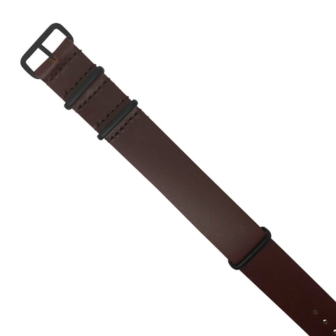 Seat Belt Nato Strap in Black with Black Buckle (20mm)