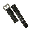 M2 Oil Waxed Leather Watch Strap in Black (24mm) - Nomad watch Works